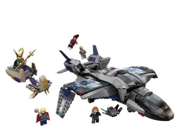 Combate Aéreo en el Quinjet LEGO®