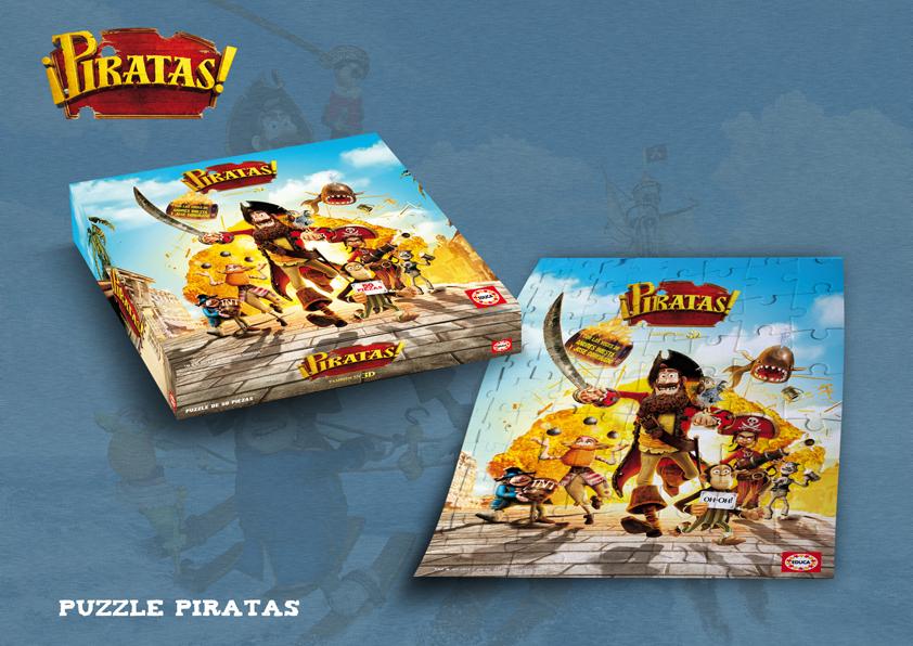 Gana un puzzle de la película para niños de Piratas