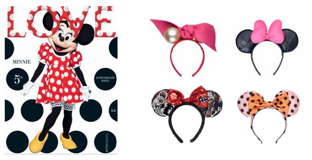 minnie mouse portada de la revista love