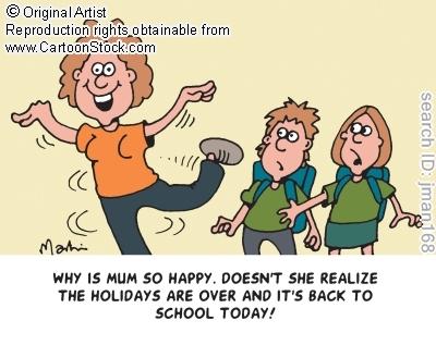 mamá de vacaciones con la vuelta al cole
