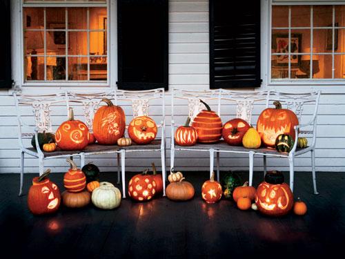 decoracion halloween calabazas