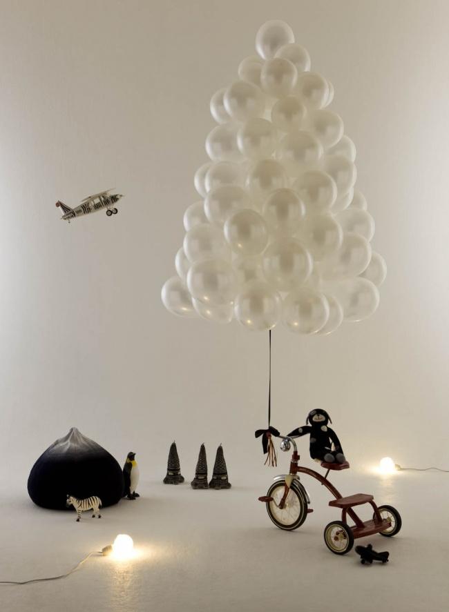 arbol de navidad globos