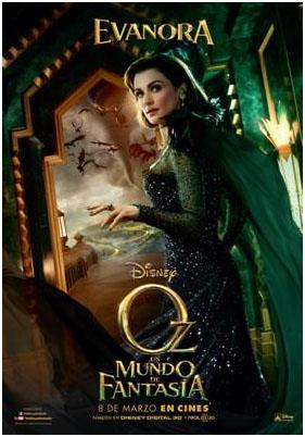 """Evanora personajes de """"Oz, un mundo de fantasía"""""""