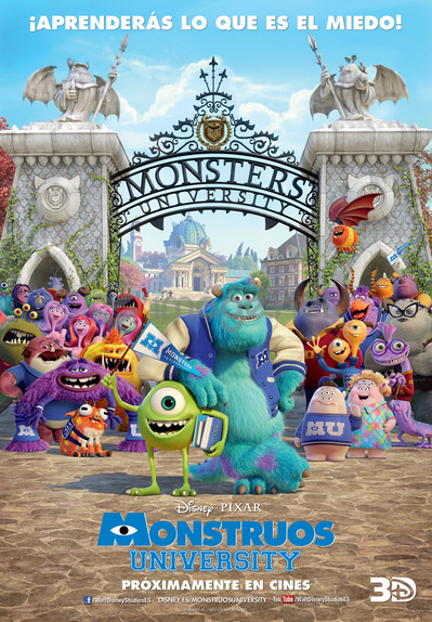MONSTRUOS UNIVERSITY disney pixar