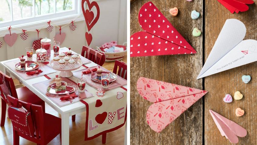 decoración fiesta de san valentín para niños