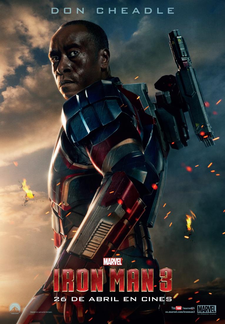 """Iron Man3 de DON CHEADLE como James Rodhes """"RHODEY"""""""