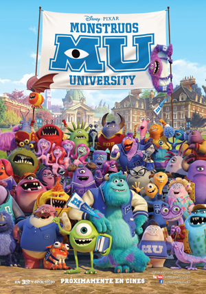 Monster University MU cartel película de Disney Pixar