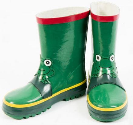botas de agua de ranas para niños