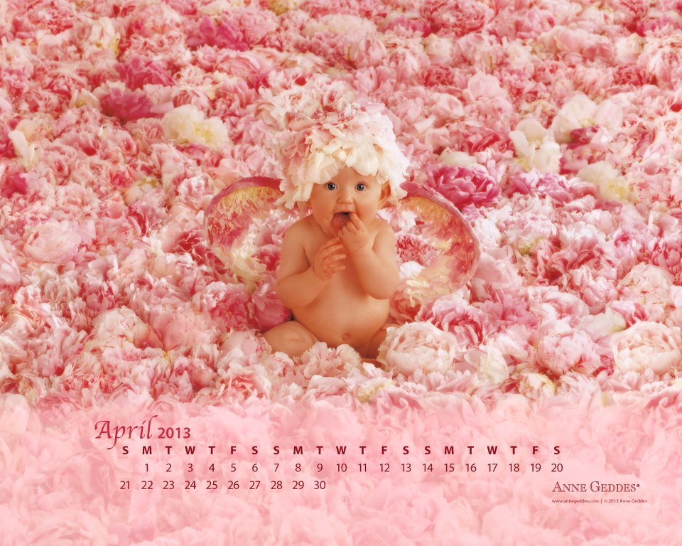 Calendario Abril 2013 de Anne Geddes
