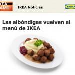 Las albóndigas de IKEA vuelven al menú