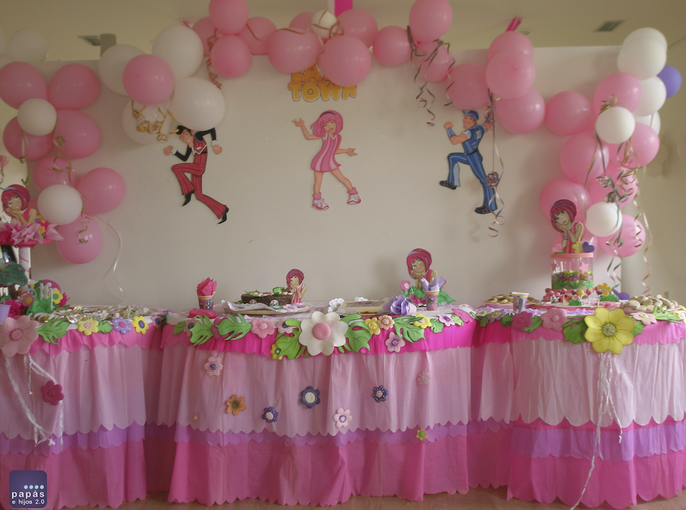 Decoración cumpleaños infantil Lazy Town