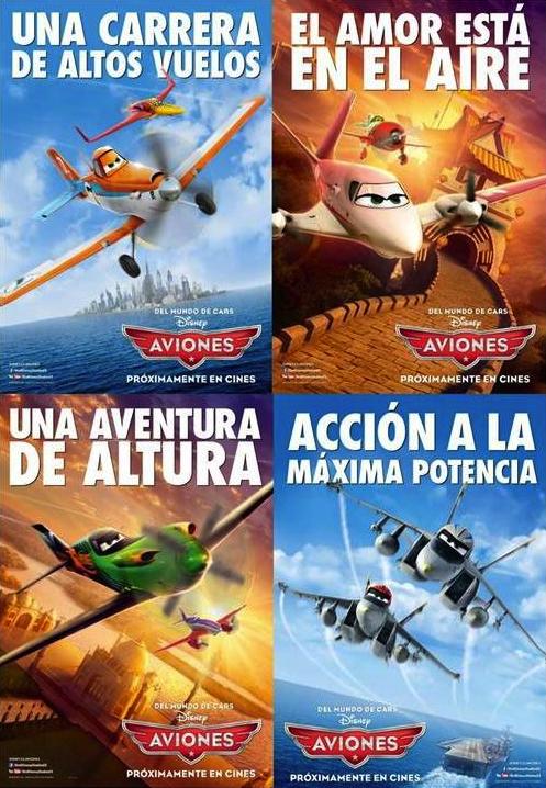 aviones de disney cartel película