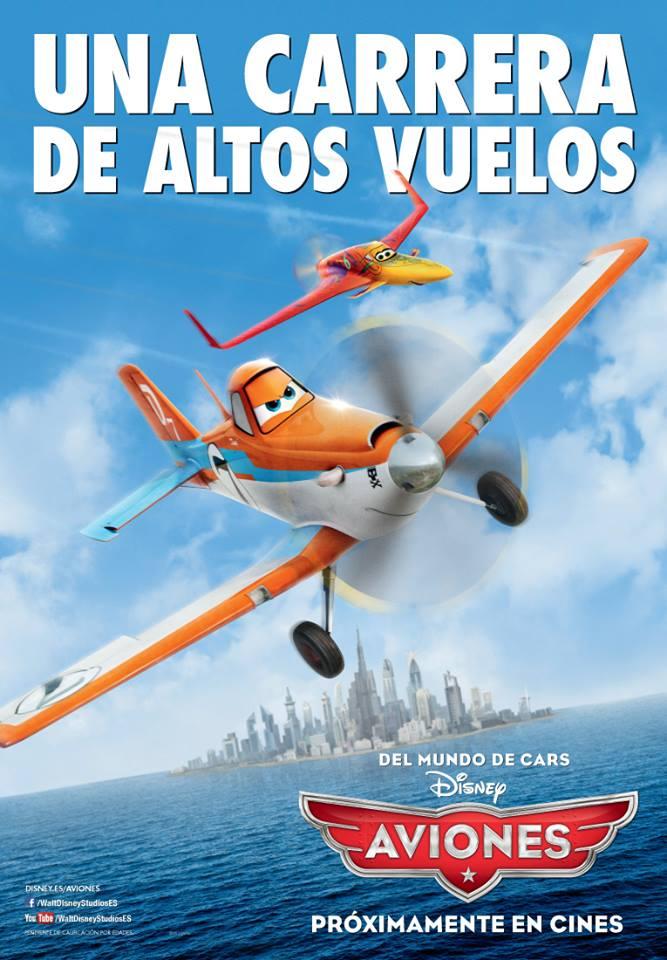 cartel de la nueva película de Disney AVIONES