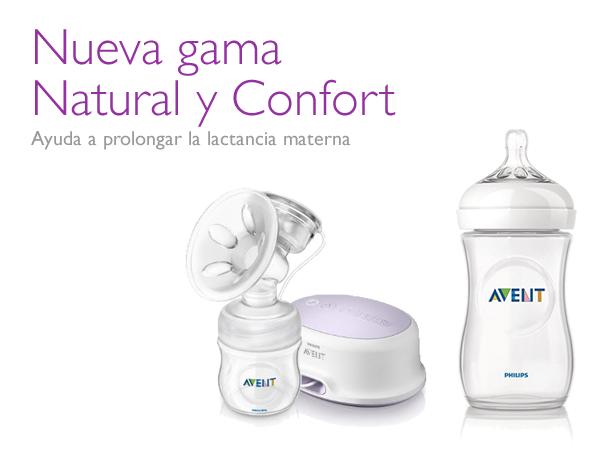 Nueva gama extractores de leche materna Confort y biberones Natural de Philips AVENT