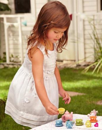 vestido blanco niña verano