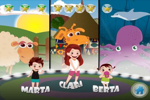 clara animals apps niños