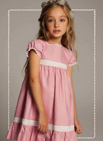 vestido niña rosa de neck neck