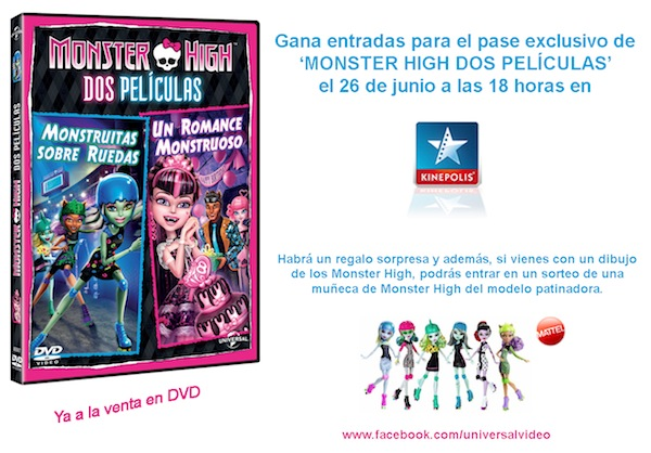 monster high dos películas en Kinépolis Madrid