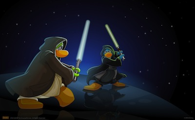 Star Wars La invasion en Disney Club Penguin