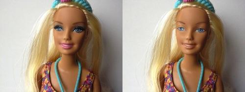 muñeca barbie sin maquillaje