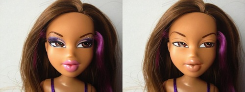 muñeca bratz sin maquillaje