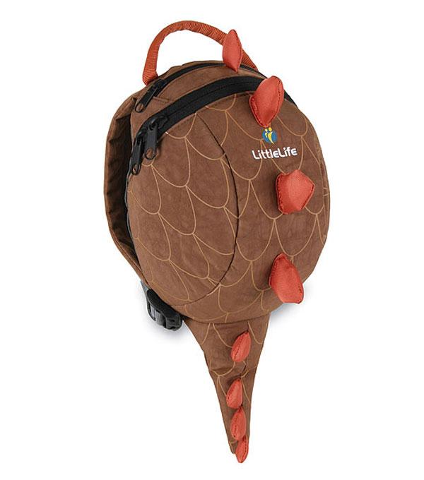 mochilas para niños pequeños marrón modelo de dinosaurio