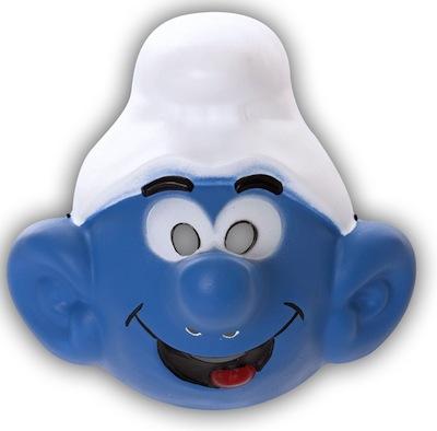 máscara para disfraz de pitufo