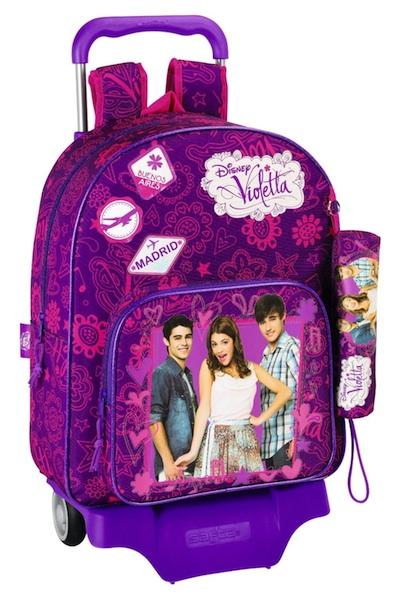 mochila de violetta con ruedas