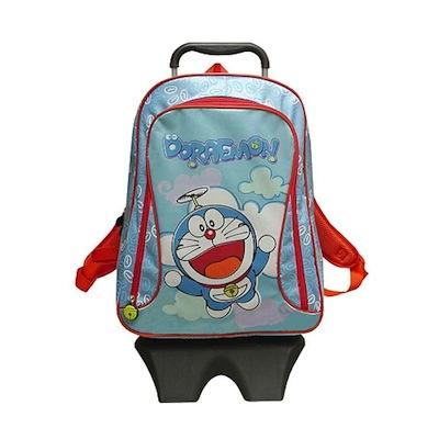 mochila con ruedas de doraemon