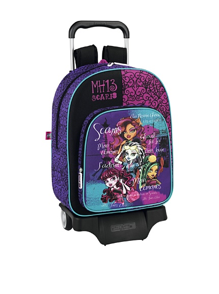 mochila con ruedas monster high mh 13