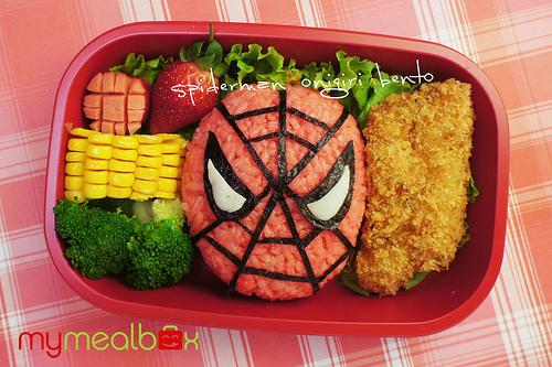 tupper niños spiderman