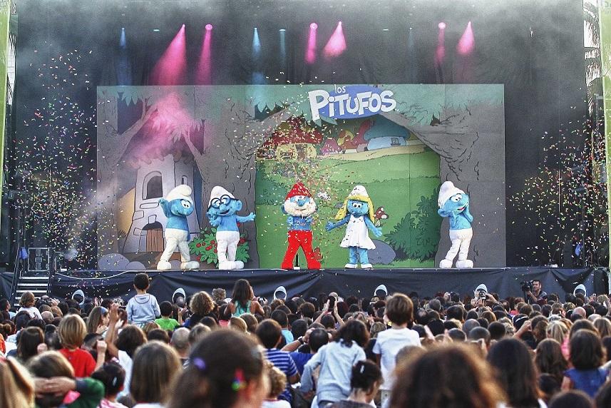 Los Pitufos Live Un Festival muy Pitufado
