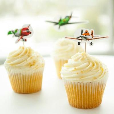 fiesta de cumple de aviones disney cupcakes