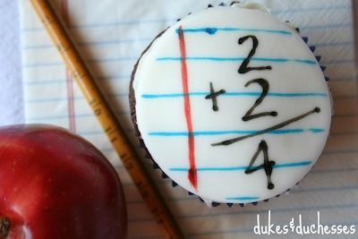vuelta al cole cupcake