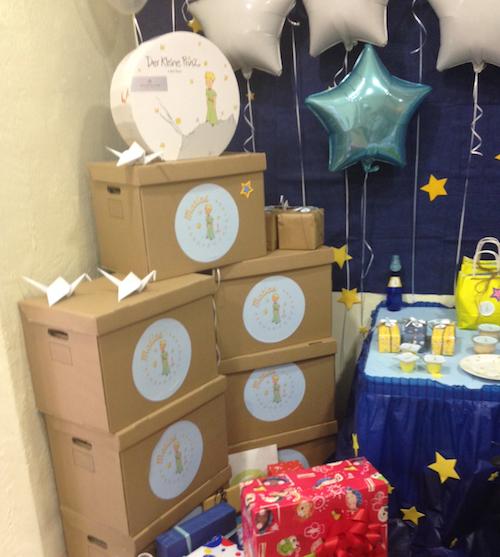 cajas de cartón decoradas para cumpleaños