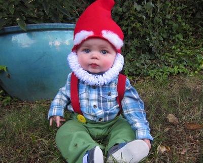 disfraz casero bebé de gnomo