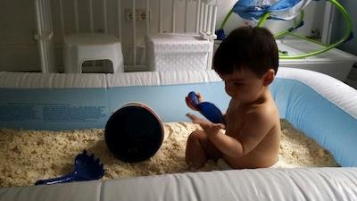 cómo hacer arena casera