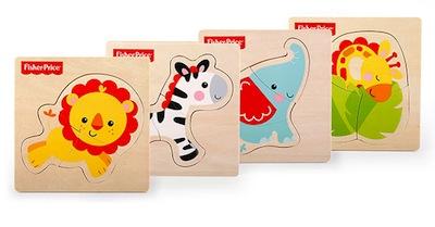 Puzzle de animal individual de madera para bebés