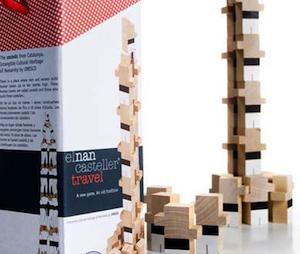 El Nan Casteller travel juguetes de madera natural para niños a partir de 3 años