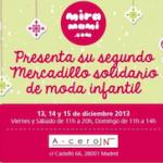 II Mercadillo Solidario de Moda Infantil en Madrid