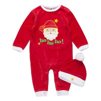 pijamas navidad para bebes papa noel con gorro