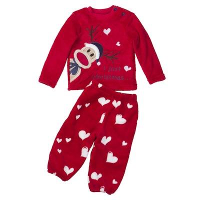 pijamas navidad para bebes reno con corazones