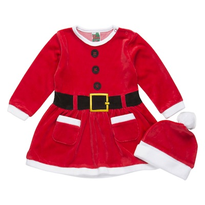 Pijama navidad para bebé niña vestido señora claus con gorro