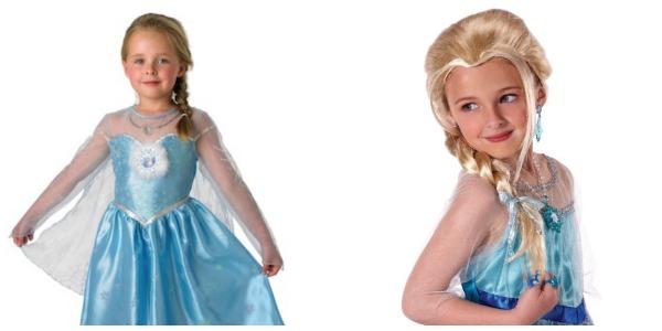 Disfraz Elsa Frozen con peluca rubia
