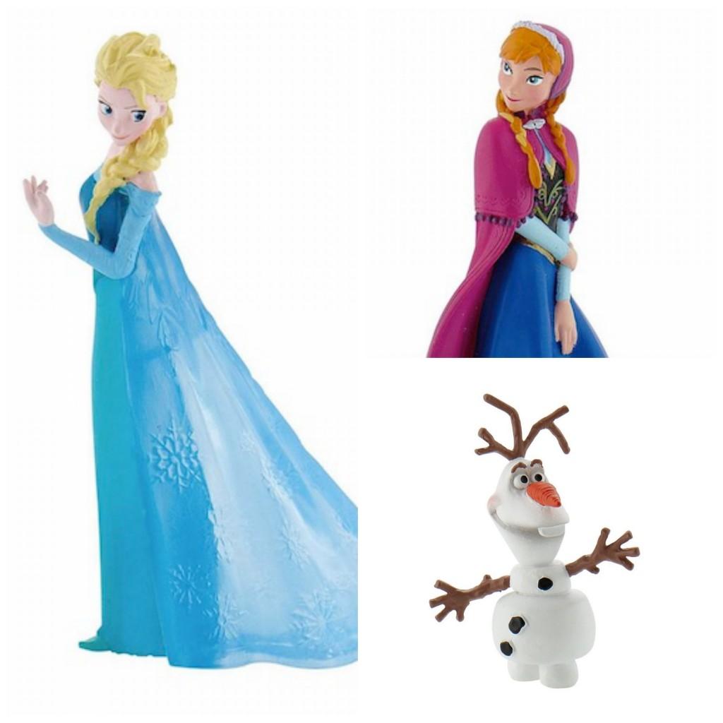 Minifiguras de Elsa, Anna y Olaf de Frozen