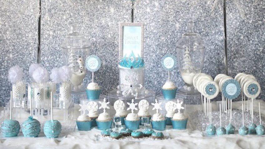 Copos De Nieve Para Decorar Fiesta Frozen.Fiesta De Cumpleanos De Disney Frozen El Reino Del Hielo