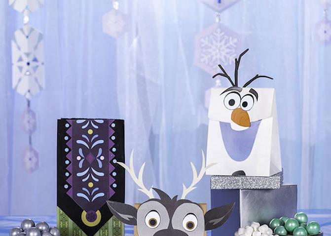 Como hacer Bolsas de invitados de Frozen