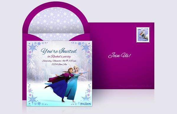 Invitación de Fiesta de Frozen