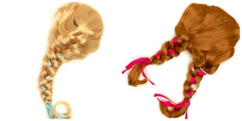 Disfraz de FROZEN, pelucas Elsa y pelucas Anna