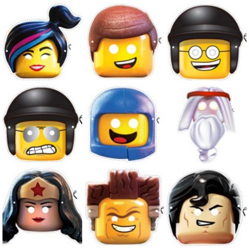 Máscaras de carnaval de la Lego pelicula para un disfraz de Emmet
